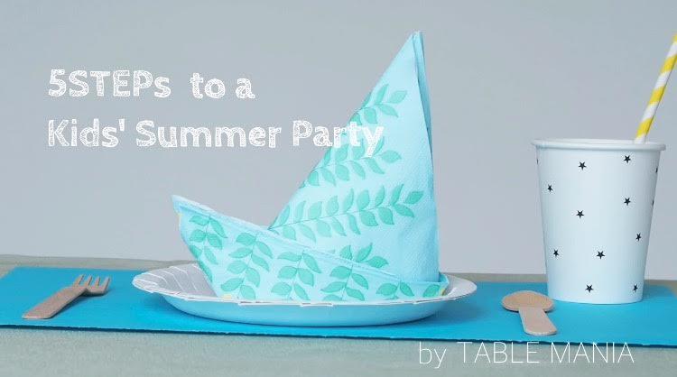 夏のキッズパーティーにおすすめなテーブルコーディネート