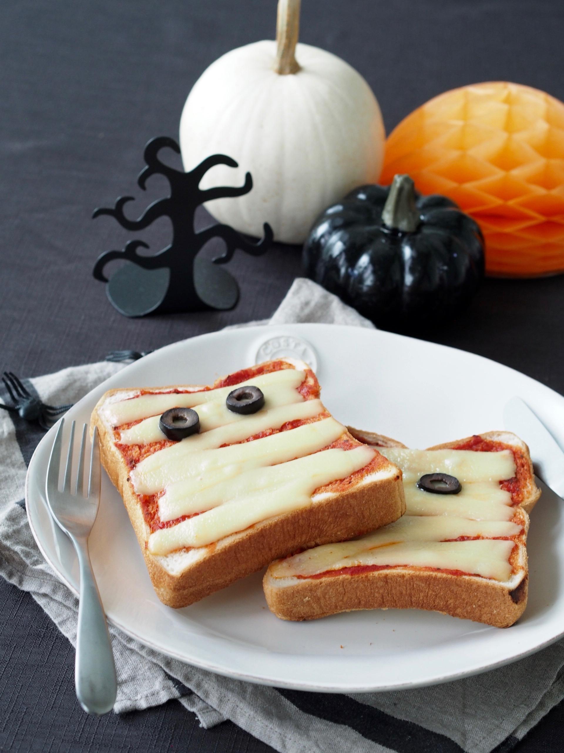 ハロウィンレシピに!かわいいミイラトースト