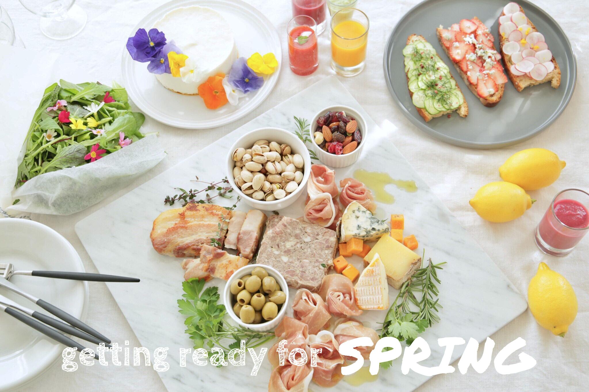 春本番!おしゃれでかわいいホームパーティー|getting ready for